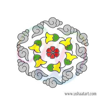 Flower Kolam 72