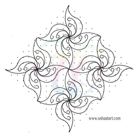 Flower Kolam 74
