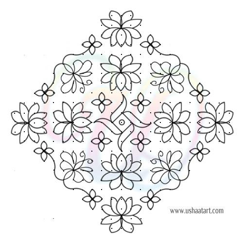 Flower Kolam 75