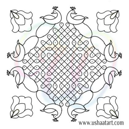 Flower Kolam 76