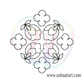 Flower Kolam 77