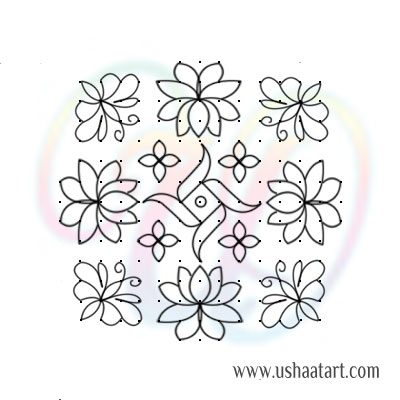 Flower Kolam 78
