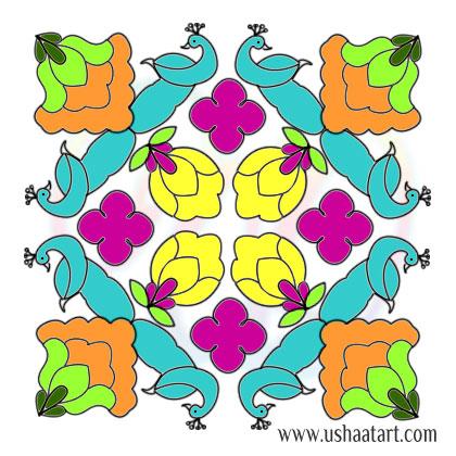 Flower Kolam 79