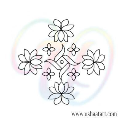 Flower Kolam 80